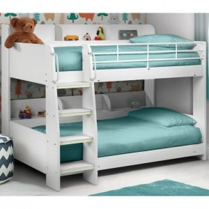 Julian Bowen Furniture Domino White Bunk Bed