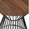 Julian Bowen Metal Furniture Jersey Round Wire Lamp Table with Walnut Top