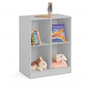 Julian Bowen Furniture Pluto Dove Grey Cube Bookcase