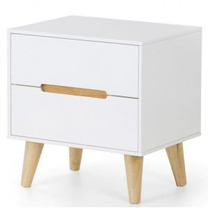 Julian Bowen Painted Furniture Alicia 2 Drawer Bedside