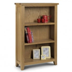 Julian Bowen Oak Furniture Astoria Low Bookcase