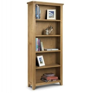 Julian Bowen Oak Furniture Astoria Tall Bookcase