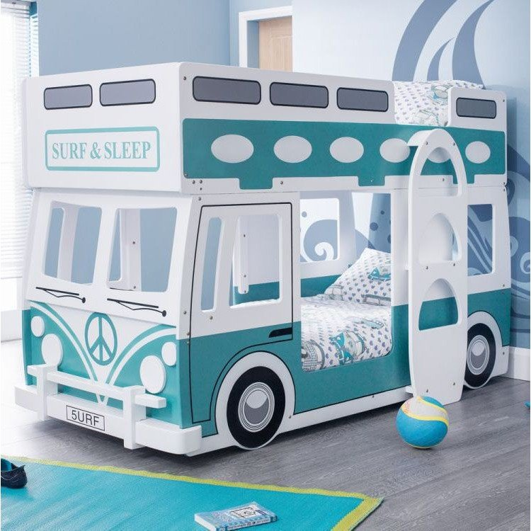 Julian Bowen Furniture Campervan Vintage green and white Bunk Bed