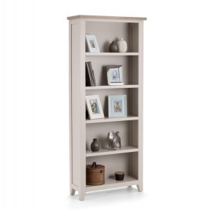 Julian Bowen Painted Furniture Richmond Grey Tall Bookcase