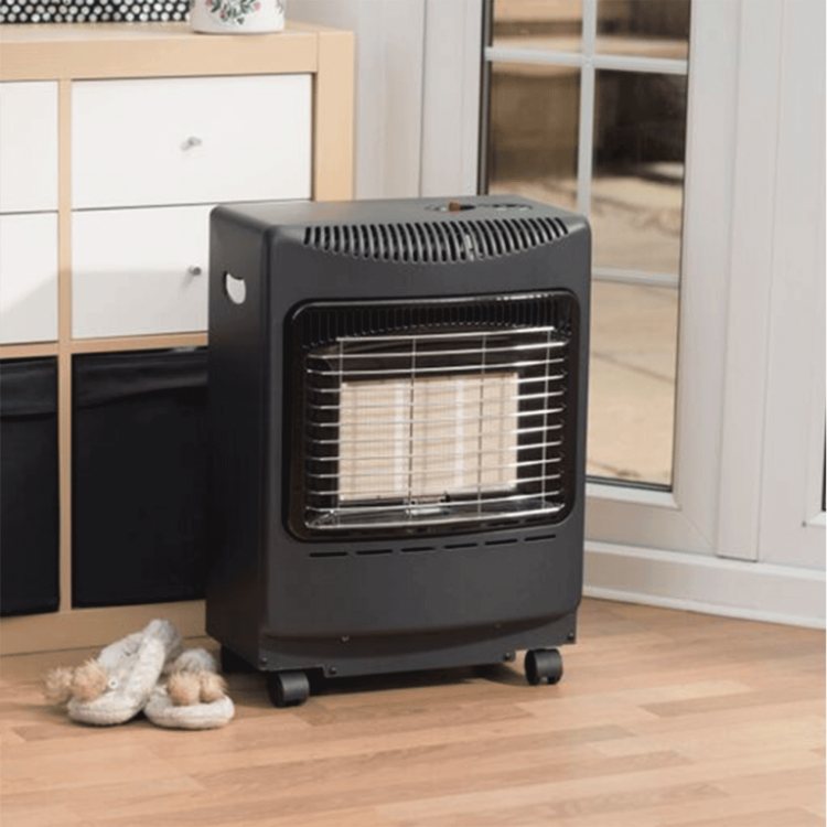 Lifestyle Outdoor Living Black Mini Heatforce Gas Cabinet Heater