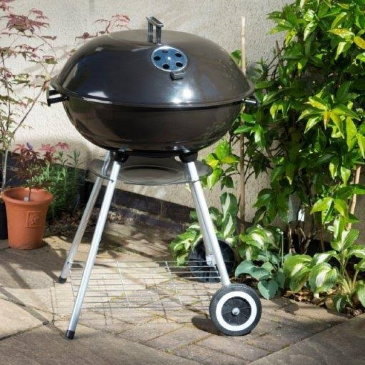 "Lifestyle Appliances Outdoor 22"" Kettle Charcoal BBQ With 2 Wheels"