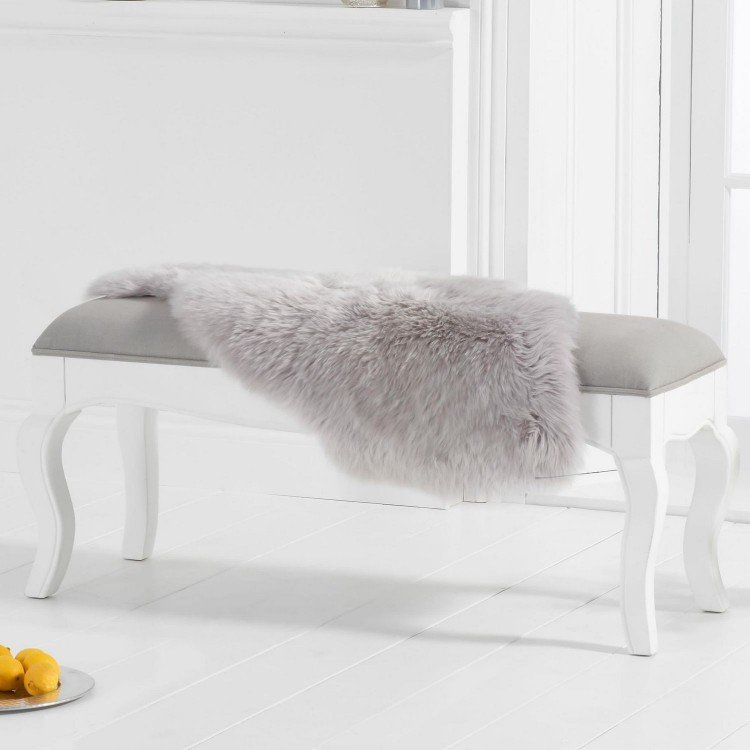 Mark Harris Sienna Furniture White Small Dining Bench