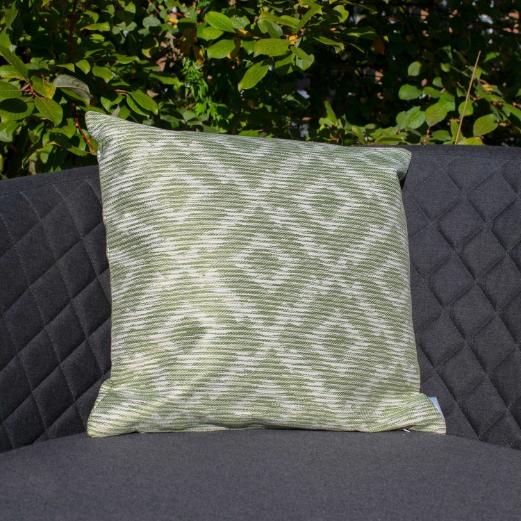 Maze Lounge Outdoor Fabric Scatter Cushion in Santorini Green Pair