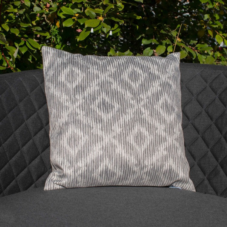 Maze Lounge Outdoor Fabric Scatter Cushion in Santorini Grey Pair