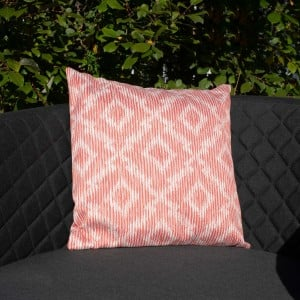 Maze Lounge Outdoor Fabric Scatter Cushion in Santorini Red Pair