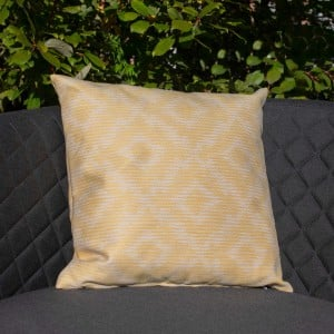 Maze Lounge Outdoor Fabric Scatter Cushion in Santorini Yellow Pair