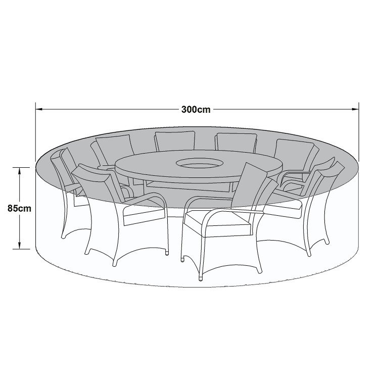 Maze Rattan Outdoor Furniture Cover for 8 Seat Round Dining Set