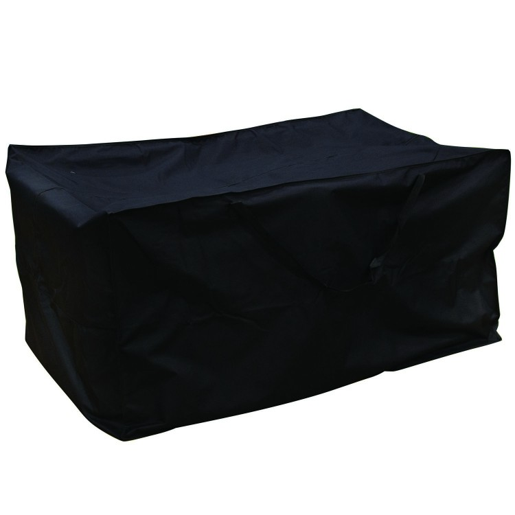 Royalcraft Garden Heavy Duty Polyester Large Cushion Storage Box Cover in Black