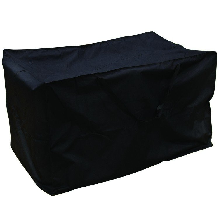 Royalcraft Garden Heavy Duty Polyester Extra Large Cushion Storage Box Cover in Black