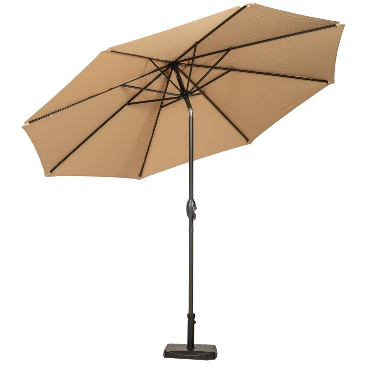 Royalcraft Garden Sahara 3m Crank and Tilt Parasol Powder Coated Pole