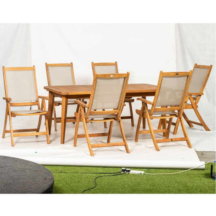 Royalcraft Garden Broadway Wooden 6 Seater Rectangular Dining Set