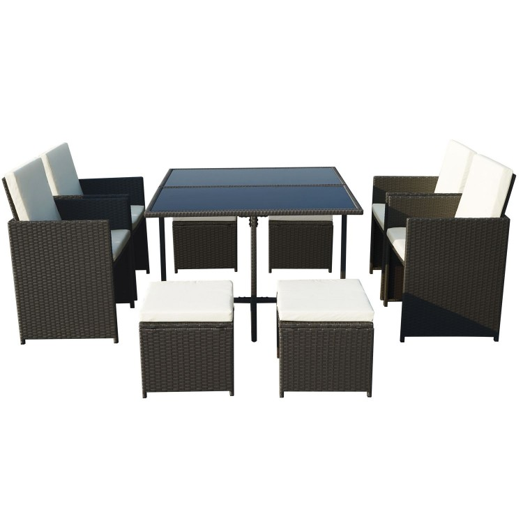 Royalcraft Garden Furniture Cannes Black 8 Seater Cube set