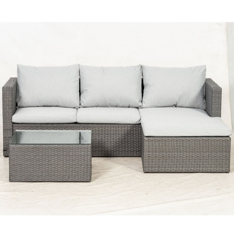 Royalcraft Garden Furniture Marlow Rattan Corner Lounging Set