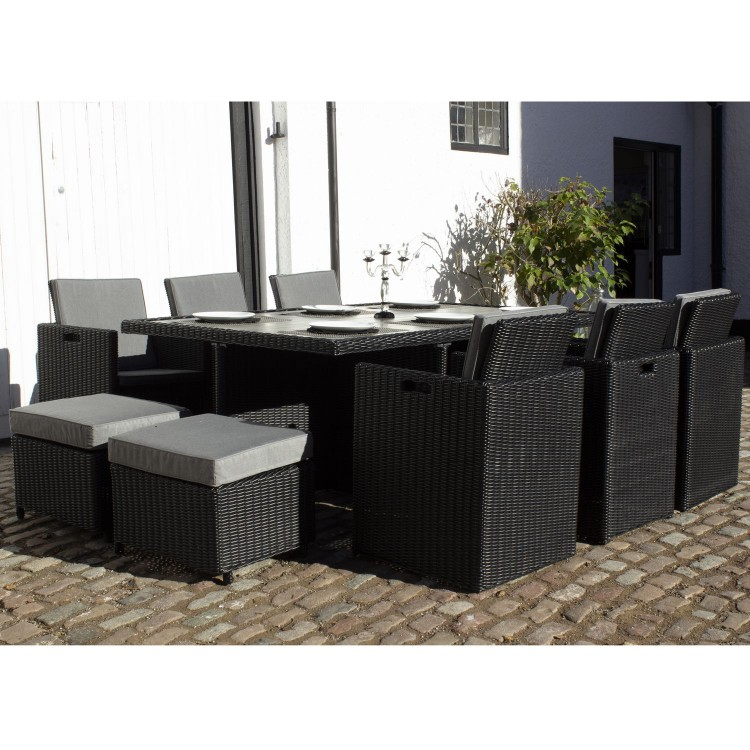 Royalcraft Garden Furniture Onyx 10 Seater Cube Dining Set