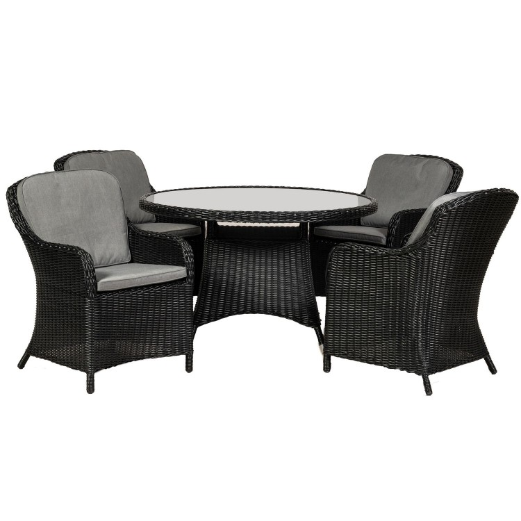 Royalcraft Garden Furniture Onyx 4 Seater Round Imperial Dining Set