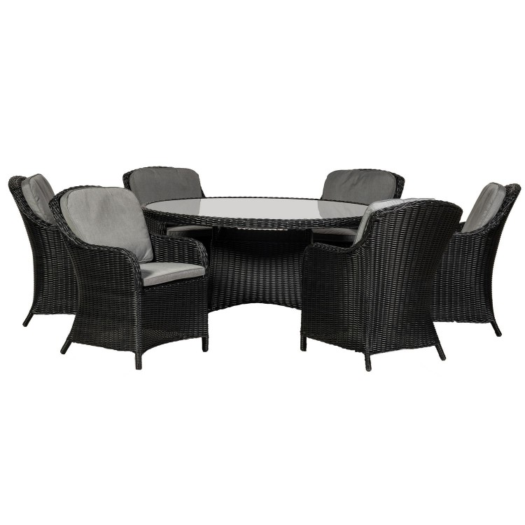 Royalcraft Garden Furniture Onyx 6 Seater Round Imperial Dining Set