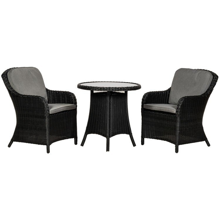 Royalcraft Garden Furniture Onyx 2 Seater Round Imperial Bistro Set