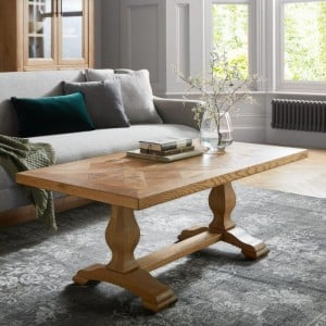 Bentley Designs Belgrave Rustic Oak Furniture Coffee Table