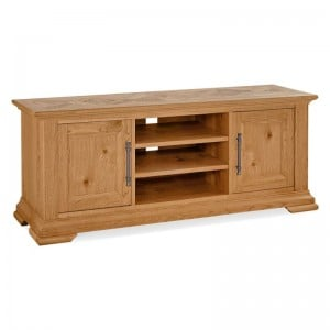 Bentley Designs Belgrave Rustic Oak Furniture Wide TV Unit