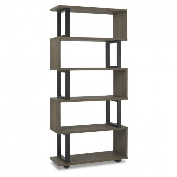 Tivoli Weathered Oak Furniture Open Display Unit