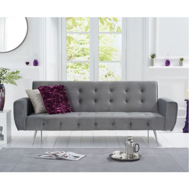 Mark Harris Valentina Grey Fabric Sofa Bed
