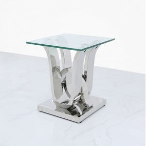 Quintrell Glass Furniture End Table