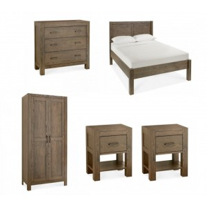 Bentley Designs Turin Dark Oak Double Bedroom Set