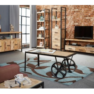 Cosmo Industrial Furniture Living Room Set