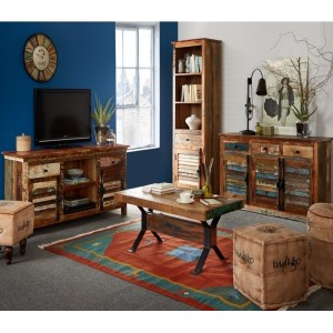Coastal Reclaimed Wood Living Room Set