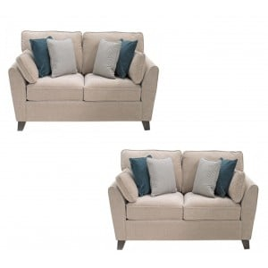 Vida Living Furniture Cantrell Almond Fabric 2 Seater Sofa Set