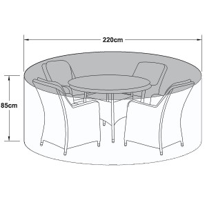 Maze Rattan Outdoor Furniture Cover for 4 Seat Round Dining Set