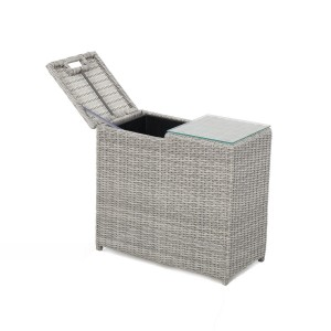 Maze Rattan Garden Furniture Ascot Grey Ice Bucket Side Table