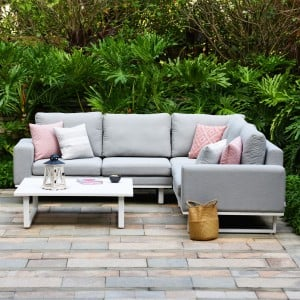 Maze Lounge Outdoor Fabric Ethos Lead Chine Corner Group