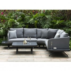 Maze Lounge Outdoor Fabric Cove Flanelle Corner Sofa Group