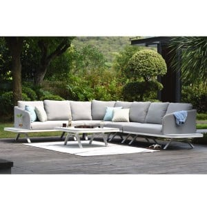 Maze Lounge Outdoor Fabric Cove Lead Chine Corner Sofa Group
