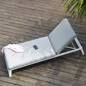 Maze Lounge Outdoor Fabric Allure Lead Chine Sunlounger