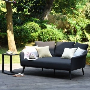 Maze Lounge Outdoor Fabric Ark Charcoal Daybed