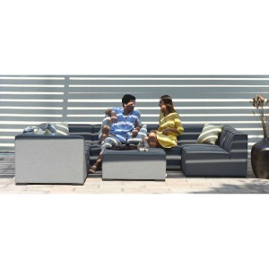 Maze Lounge Outdoor Fabric Apollo Flanelle Large Corner Group Sofa Set