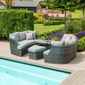 Maze Rattan Garden Furniture Cheltenham Grey Daybed