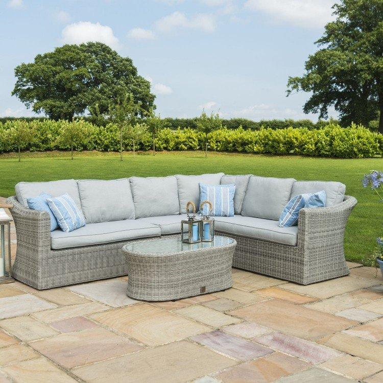Maze Rattan Garden Furniture Oxford Large Group Corner Sofa Set - PRE ORDER
