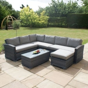 Maze Rattan Garden Furniture Victoria Large Corner Group