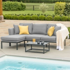 Maze Lounge Outdoor Fabric Pulse Flanelle Chaise Sofa Set
