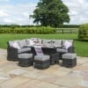 Maze Rattan Garden Furniture Kingston Grey Corner Dining Set with Rising Table
