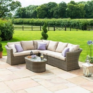 Maze Rattan Garden Furniture Winchester Large Corner Sofa Set