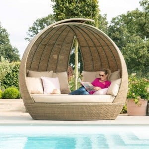 Maze Rattan Garden Furniture Luscany Lotus Daybed